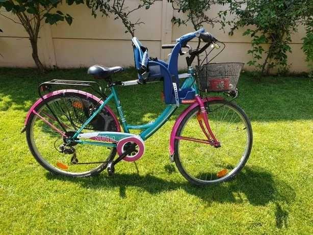 Bicicleta Scirocco Siviglia, pentru femei, Verde/Roz - noua, City bike