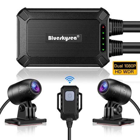Camera moto duala Blueskysea B1M, senzori 2 x Sony IMX323, Wifi, 24LUN