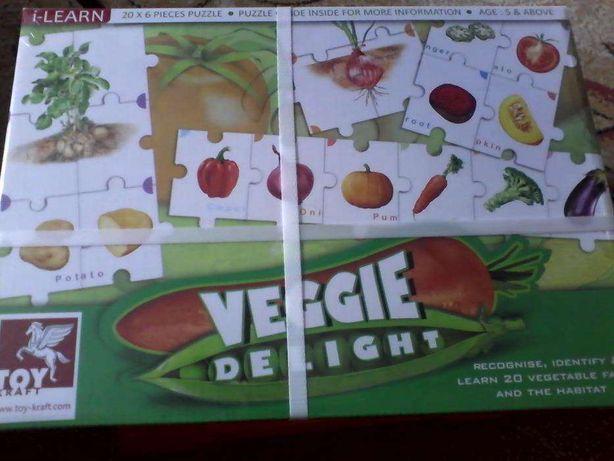 joc puzzle cu legume