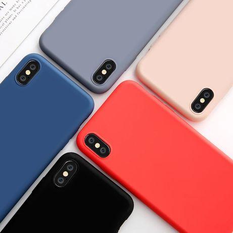 Тънък Матов Силиконов Кейс за Apple iPhone SE 2020 / X XS XR MAX 6 7 8