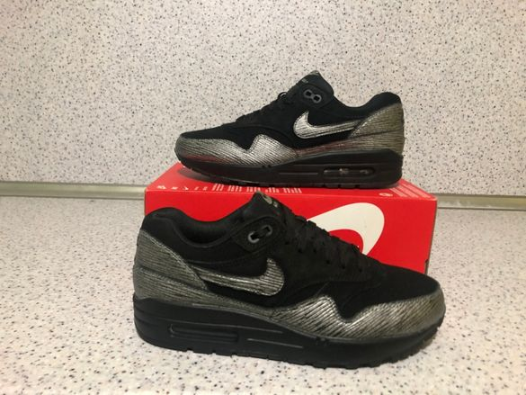 ОРИГИНАЛНИ *** Nike AIr Max 1 Premium / Black SIlver Edition