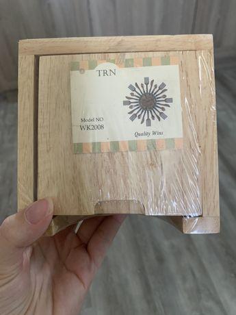 Новые! Деревянные подставки под стаканы/ горячее