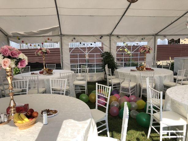 Inchiriez cort complet echipat si decor nunti.