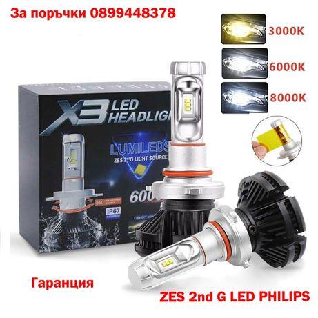 Радиаторни без вентилаторни LED крушки H7 H1 H4 H3 HB4 H11 лед канбус
