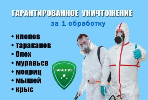 Дезинсекция от СЭС/Годовое обслуживание/Кафе/Рестораны/Заводы и т.д/