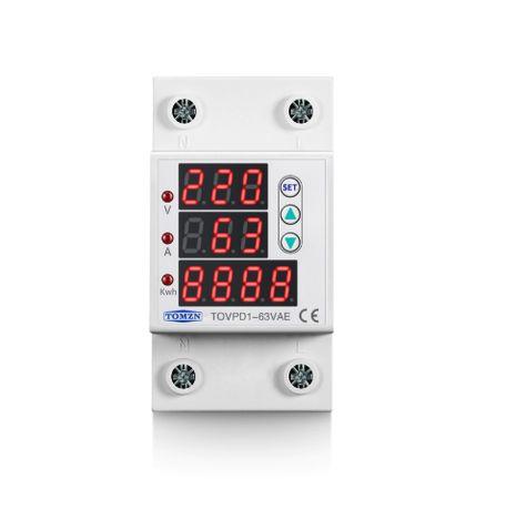 Защита от пренапрежение и ниско напрежение с ток 1-63А с изм. мощност