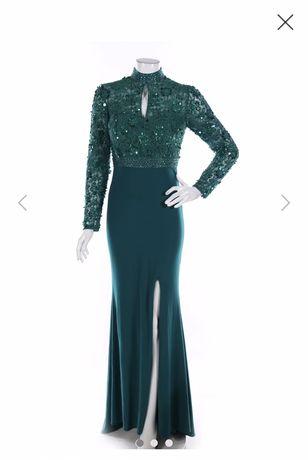 Черна дълга официална рокля, гол гръб, цепка,  guess liu jo tommy