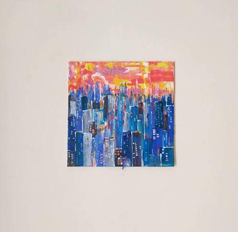 Vand pictura acrilica, tablou, New York