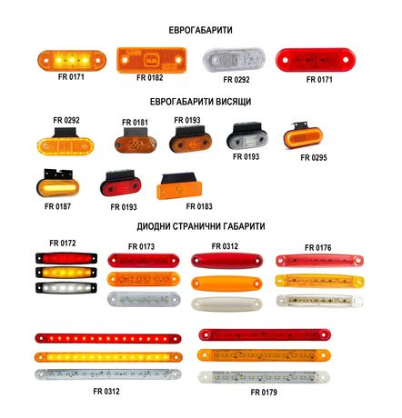 Странични габарити за бусове и камиони - LED/диодни и декоративни