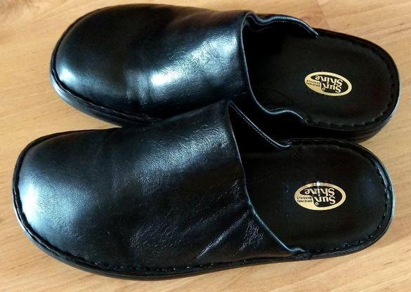 Чисто нови италиански чехли от естествена кожа SunShine , ръчна израб