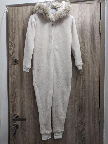 Salopeta polar cu blăniță River Island fete 7-8 ani 122-128 cm