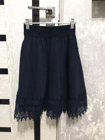 Школьная юбка (темно-синяя)