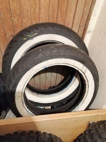 Мото гуми 130/140.16 чопър с бял кант