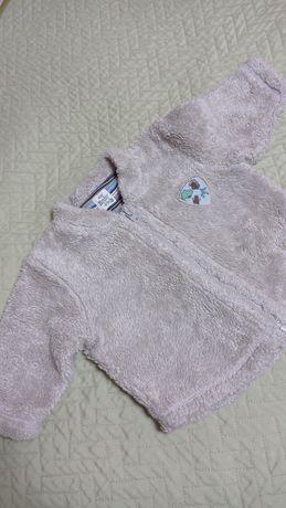 Меховая кофточка (H&M) на замочке(р68) и кофта (р86)