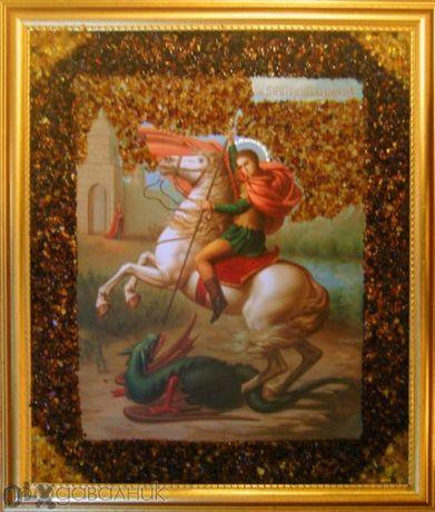 Икона кехлибар Св. Георги