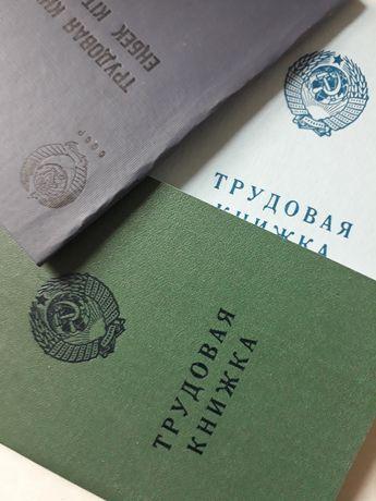 Трудовые 1966,73,74годов оригинальные советские книжки СССР трудовые