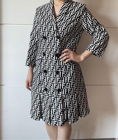 Турецкое платье. Модное. Женское платье. Фенди.