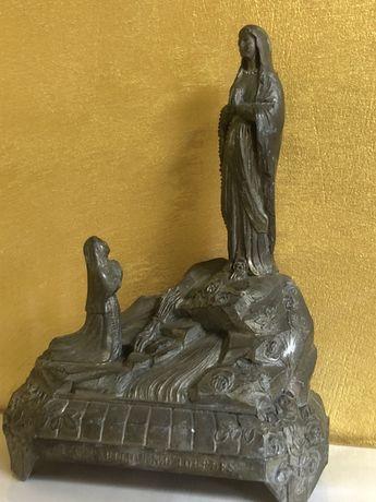 Statuie L ' apparition N.D. Lourdes muzicală