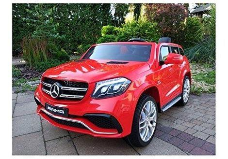 Masinuta Electrica pentru 2 copii Mercedes GLS63 AMG 4x4 24V #Rosu Targoviste - imagine 1