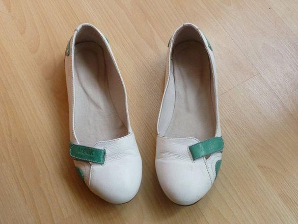 Естествена кожа - балерини, спортни обувки, по модел на Пума