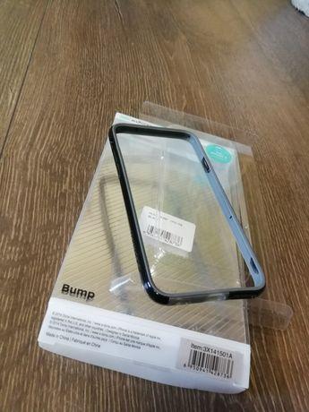Husa/Bumper iPhone 6/6s negru-gri silicon