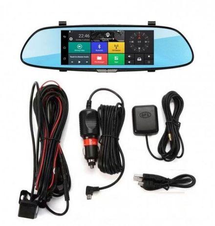 camera auto DVR fata-spate tip oglinda cu navigatie GPS 8 inch,Android