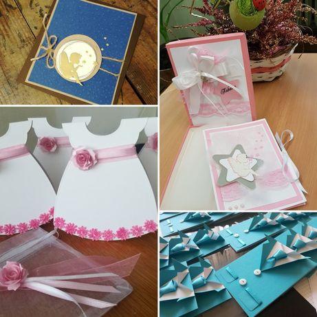 Покани, картички, пликове, етикети и аксесоари за кръщене/сватба/бал