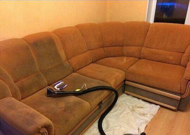 Глубокая чистка химчистка мебели матрасы диваны ковёр пуфиков Алматы