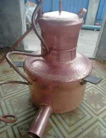 Vând cazan de făcut tuica din cupru alimentar de 99 litri din cupru al