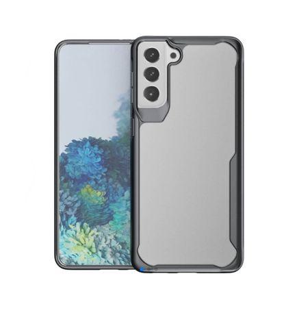 Husa Samsung S21 Plus .5G AntiSoc Transparenta cu Margine Neagra