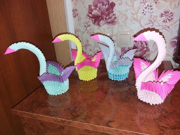 Модульное оригами-Лебеди