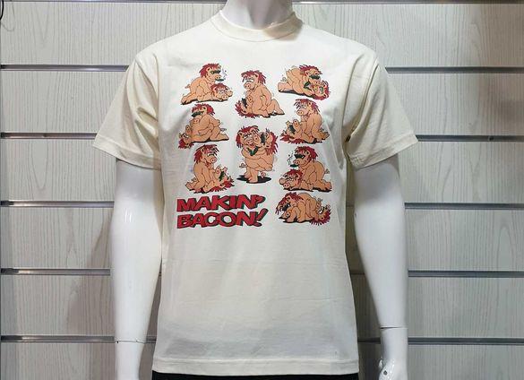 Нова мъжка тениска с щампа Секс пози-кози или MAKIN' BACON с прасета