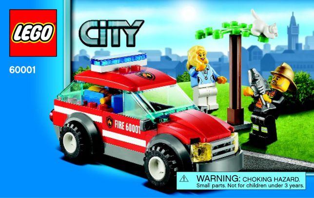 Lego City, 60001, Masina comandantului pompierilor