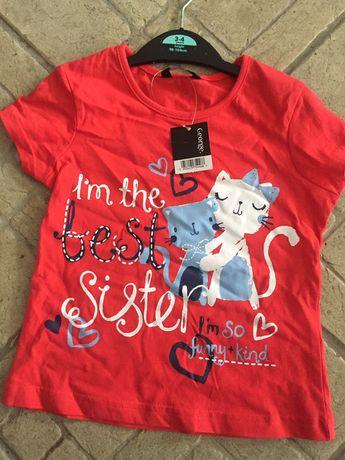 Tricou fetițe 3-4 ani George UK