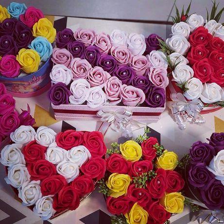 Aranjament flori sapun