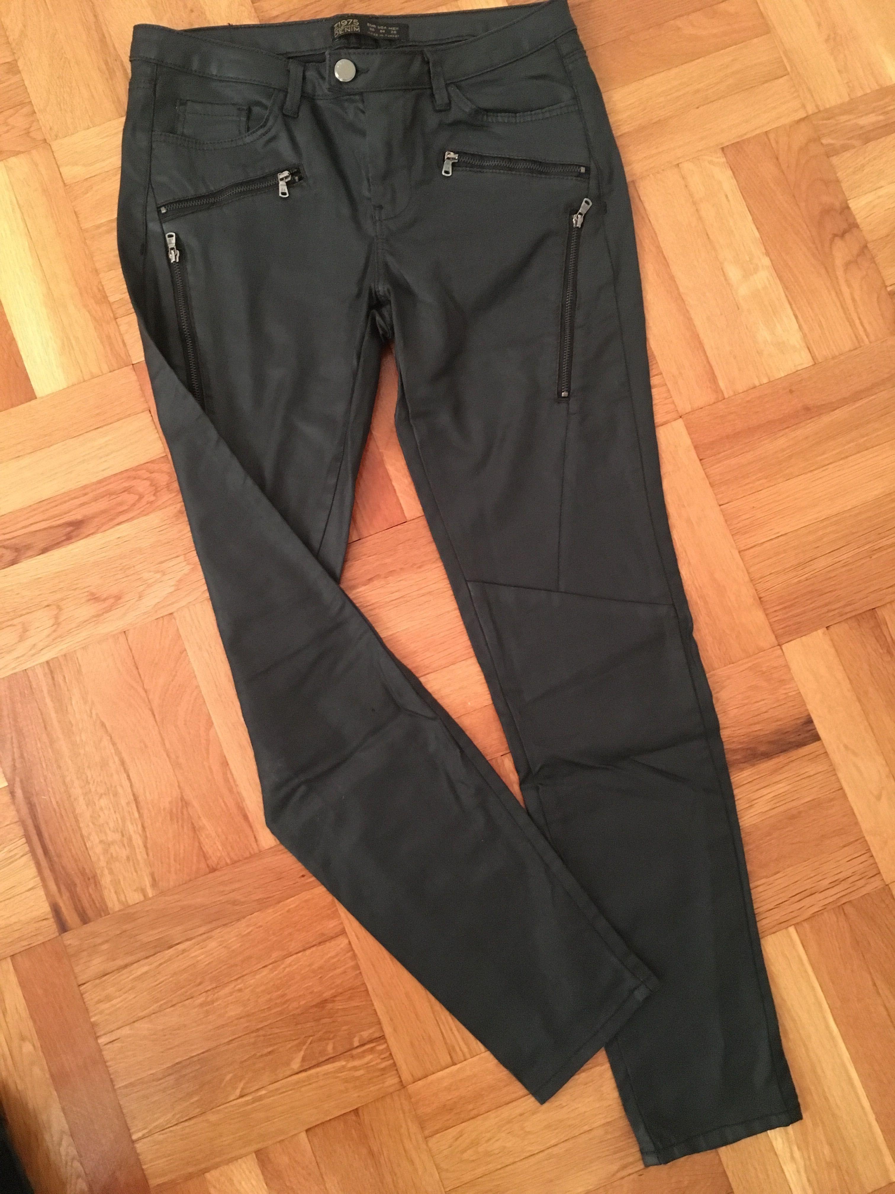 """""""Кожен""""Панталон Zara,S eur36,промазан плат"""