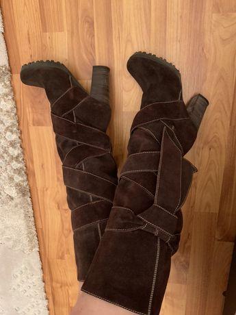 Cizme de piele naturala intoarsa MARO, Denis-All shoes, marime 36