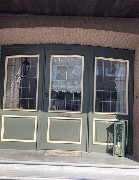 Usa casa firma vila intrare traditionala lemn vitraliu H 220 x L 277 Targusor - imagine 1