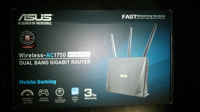 Router   ASUS RT-AC1750U, Dual-Band 450 + 1300 Mbps - Stare  Noua