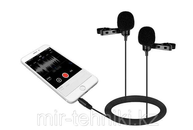 Петличка с двойным микрофоном