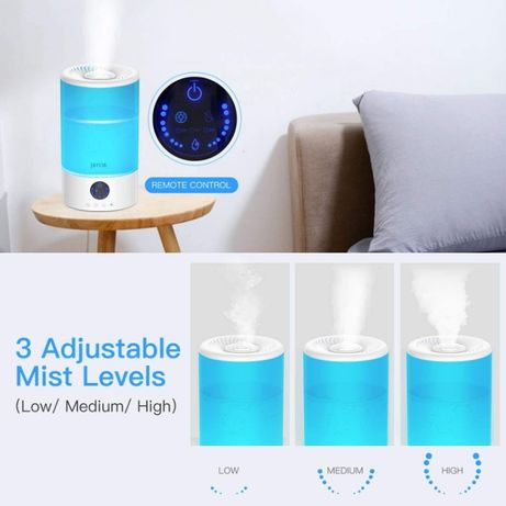 Umidificator, 3L cu ultrasunete, uleiuri esentiale, telecomanda, RGB