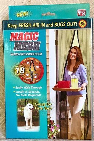 Магнитна мрежа против насекоми (мухи и комари) Magic Mesh 210/90