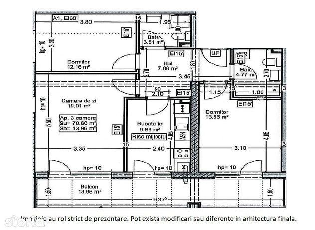 Apartament 3 camere - Parcul Teilor - Theodor Pallady