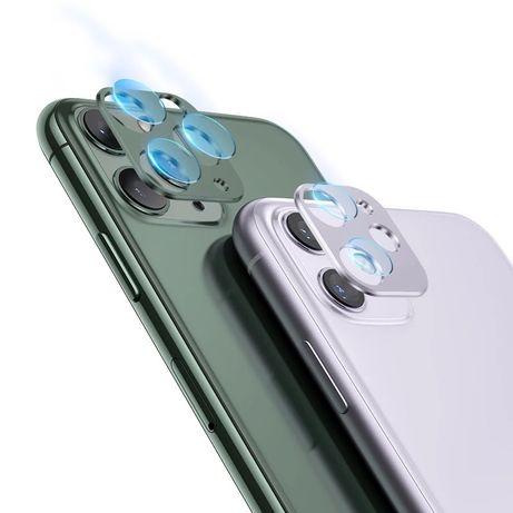 Алуминиев ринг за камерата и стъклен протектор за IPhone 11,11 Pro Max