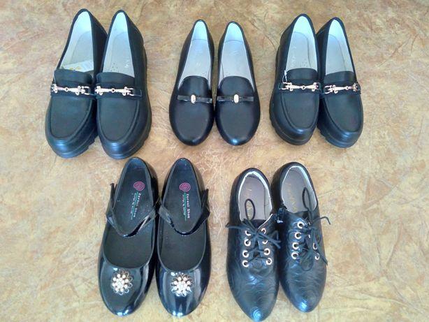 Продам осенние туфли для девочек размеры с 33 по 37