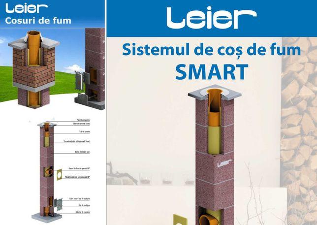 COS DE FUM CERAMIC, LEIER SMART 5M , diametru interior 18cm