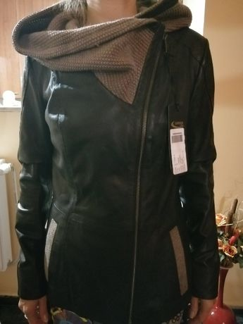 нов хитов модел дамско кожено яке - естетвена вълча и лисича кожа
