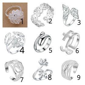 Разпродажба на нови пръстени със сребърно покритие печат 925!