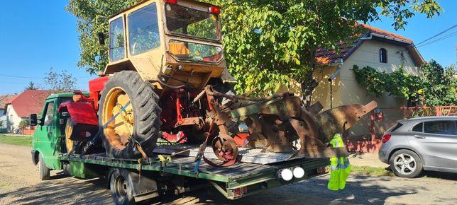 Transport/tractari utilaje/masini NON STOP, pana la 4t,Tractor,Dube