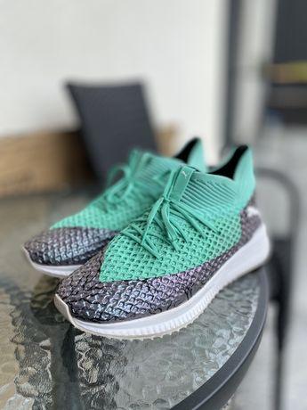 Sneakersi Puma verde cu gri